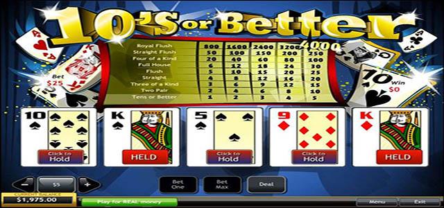 Ulasan Permainan 10s or Better Poker